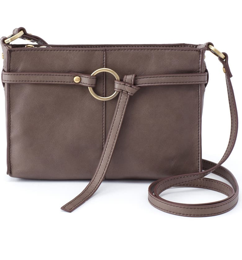 HOBO Libra Leather Crossbody Bag, Main, color, SHADOW