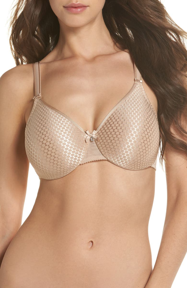 CHANTELLE LINGERIE C Magnifique Nouveau Full Coverage Underwire Bra, Main, color, ULTRA NUDE