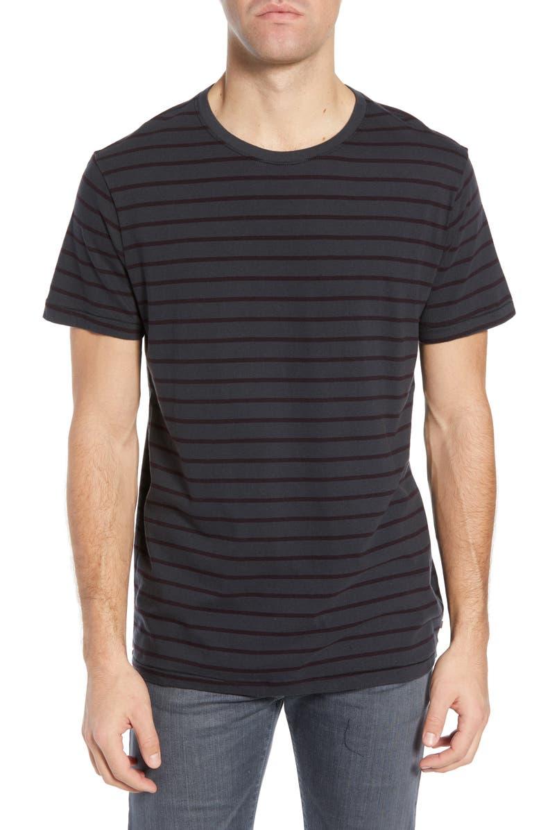 AG Julian Slim Fit Stripe T-Shirt, Main, color, GRAY STONE/ RICH