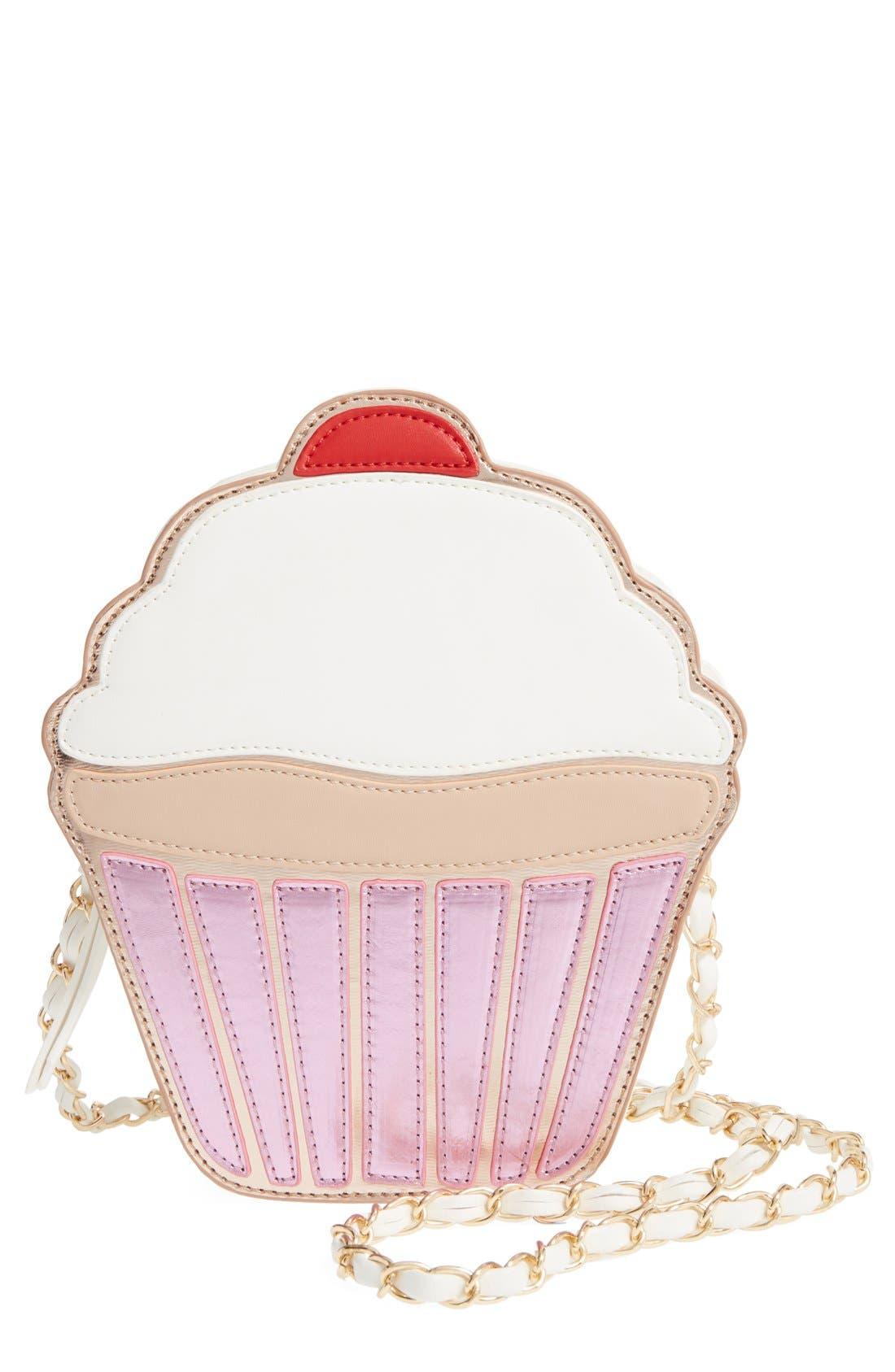'Cupcake' Faux Leather Crossbody Bag, Main, color, 650