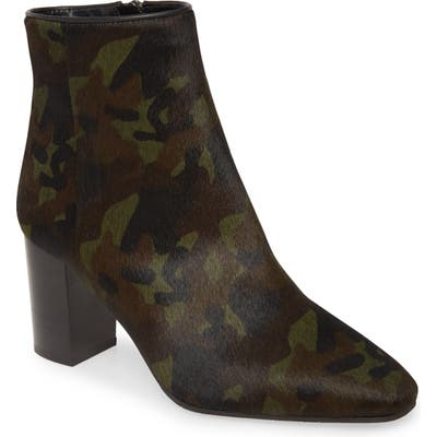 Aquatalia Florita Camo Print Genuine Calf Hair Bootie, Green