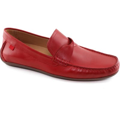 Marc Joseph New York Plymouth Street Driving Shoe- Red