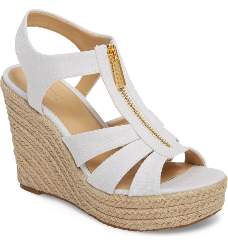 MICHAEL MICHAEL KORS Berkley Platform Wedge, Main, color, 100