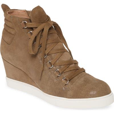 Linea Paolo Fenton Wedge Sneaker- Brown