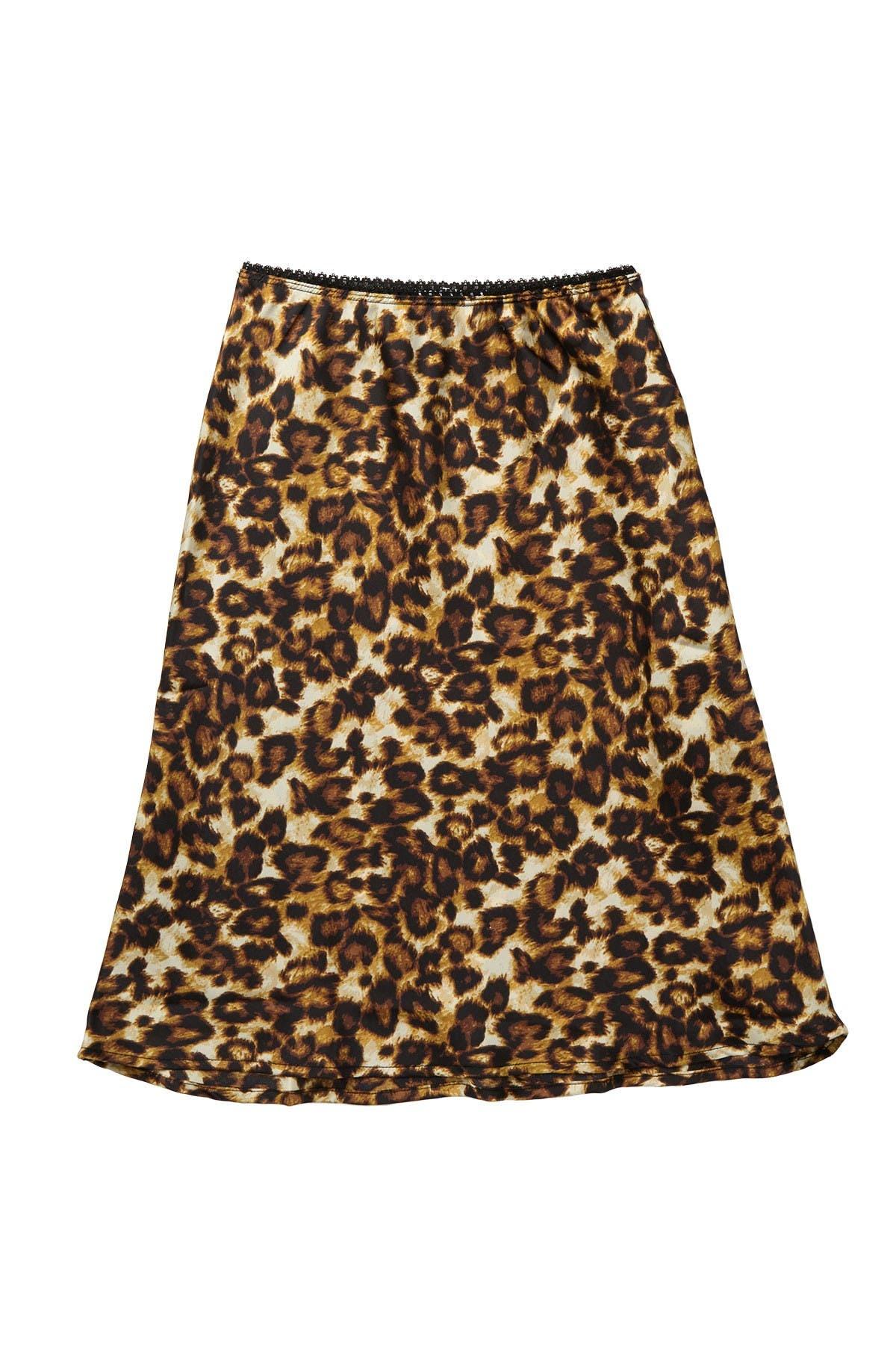 Image of Ten Sixty Sherman Leopard Print Skirt
