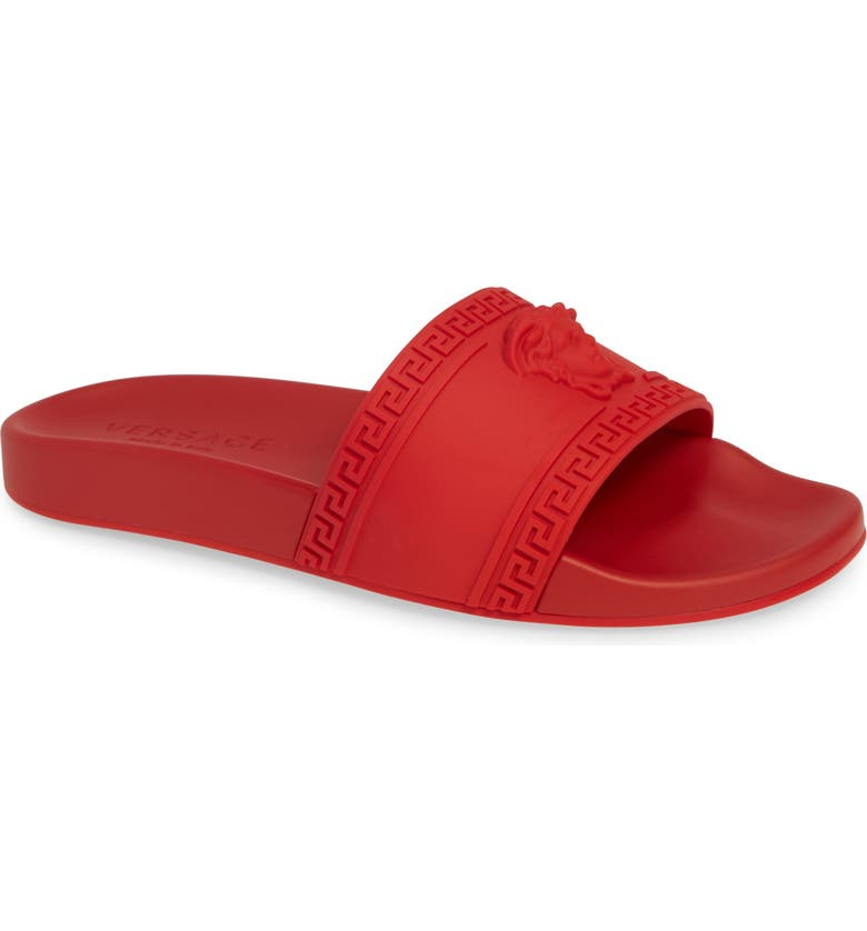 VERSACE Palazzo Medusa Slide Sandal, Main, color, RED