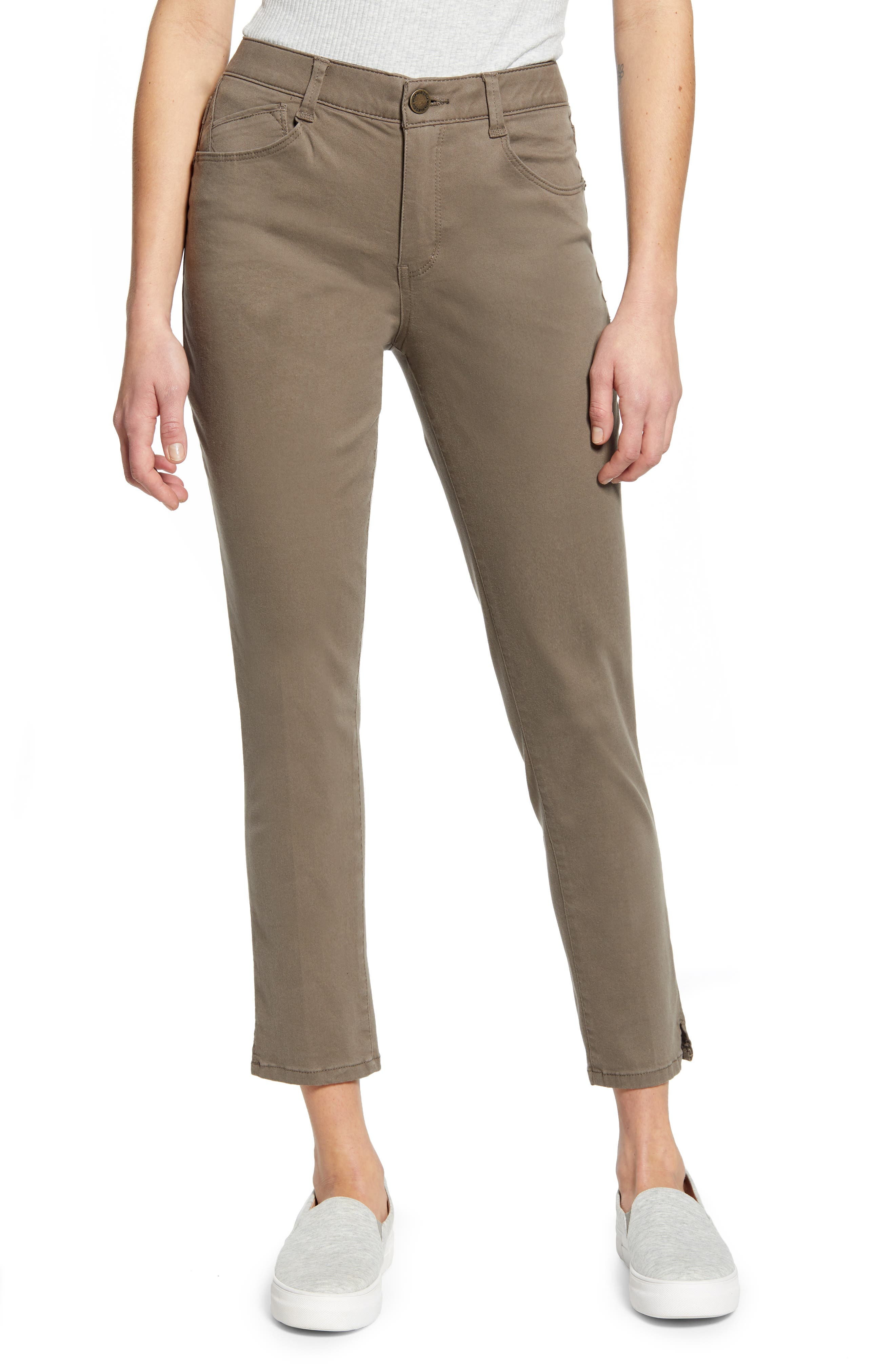 Petite Women's Wit & Wisdom Ab-Solution High Waist Ankle Skinny Pants,  00P - Green (Regular & Petite) (Nordstrom Exclusive)
