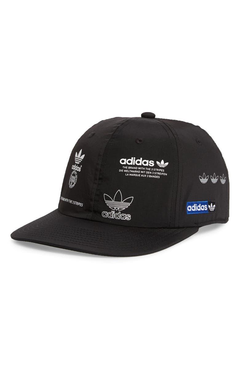 ADIDAS ORIGINALS Stamp Baseball Cap, Main, color, BLACK
