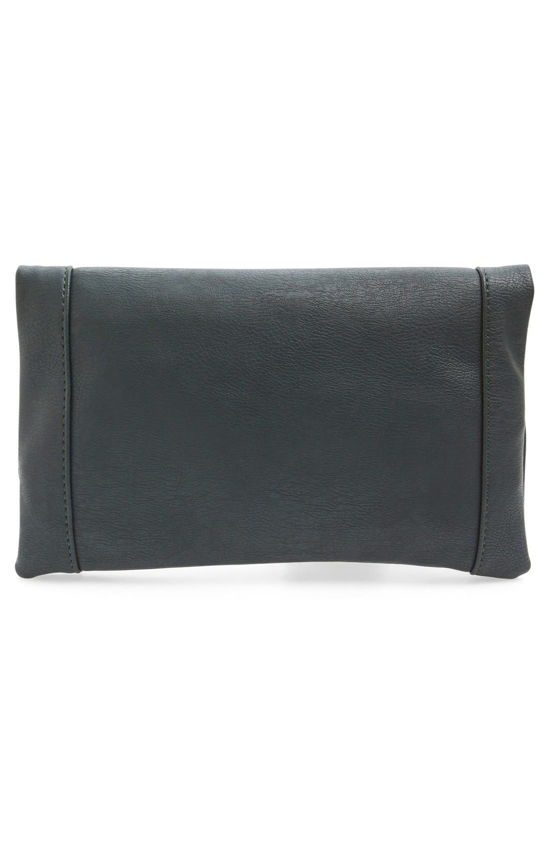 ,                             Marlena Faux Leather Foldover Clutch,                             Alternate thumbnail 45, color,                             300