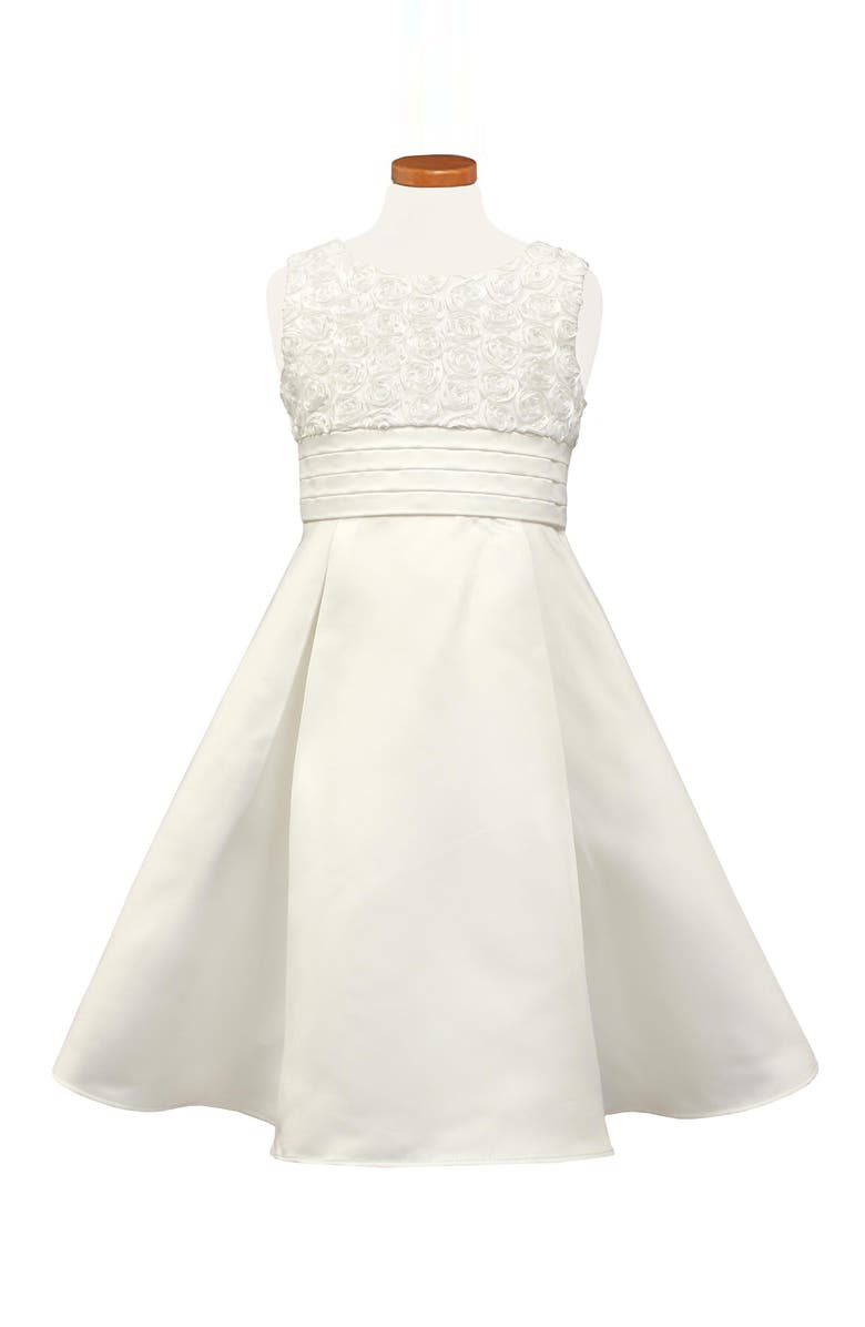 SORBET Rosette Sleeveless Dress, Main, color, WHITE
