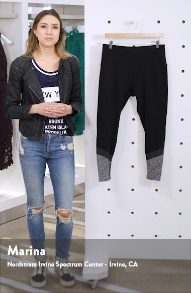High Waist Color Block Leggings, sales video thumbnail