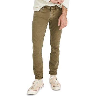 Madewell Garment Dyed Skinny Everyday Flex Jeans, Green
