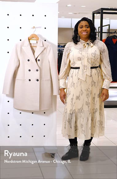 Short Double Breasted Wool Coat, sales video thumbnail