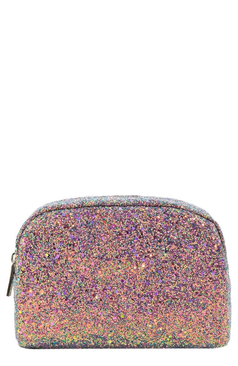 SKINNYDIP Purple Crescent Makeup Bag, Main, color, NO COLOR