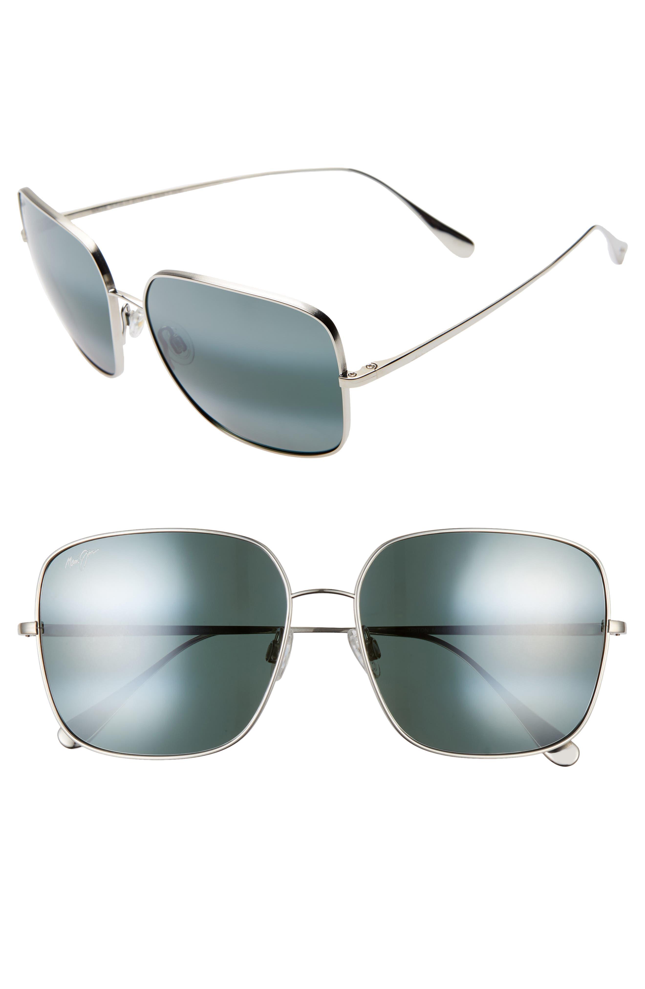 Triton 61mm Polarizedplus2 Mirrored Square Sunglasses