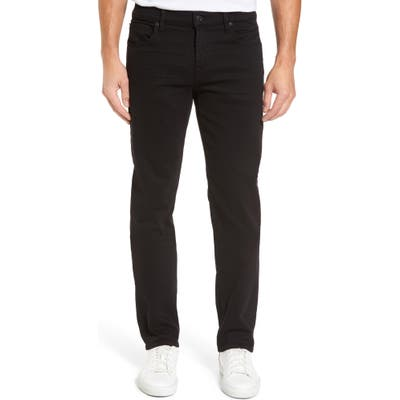7 For All Mankind The Standard Luxe Performance Straight Leg Jeans, Black