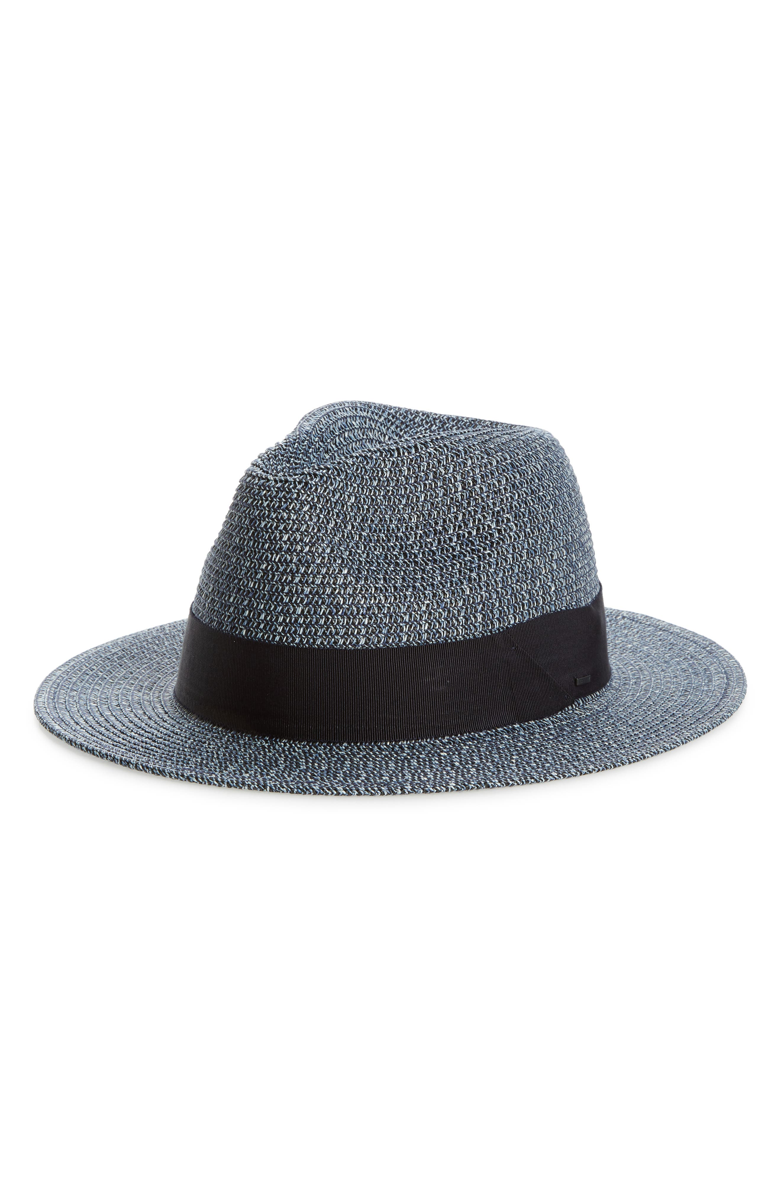 Bailey Mullan Straw Fedora - Blue