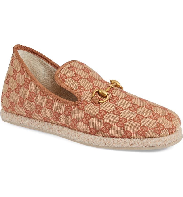 GUCCI GG Supreme Loafer, Main, color, BEIGE MULTI