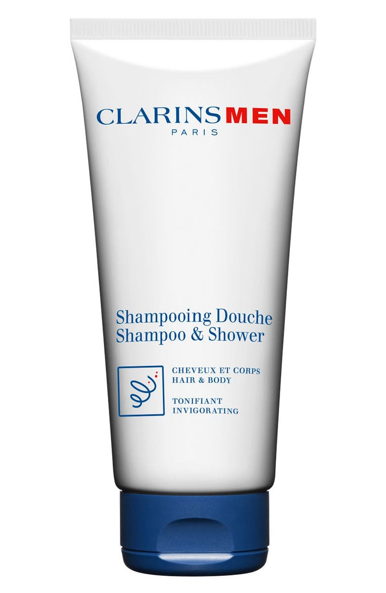 CLARINS Men Shampoo & Shower Wash, Main, color, NO COLOR