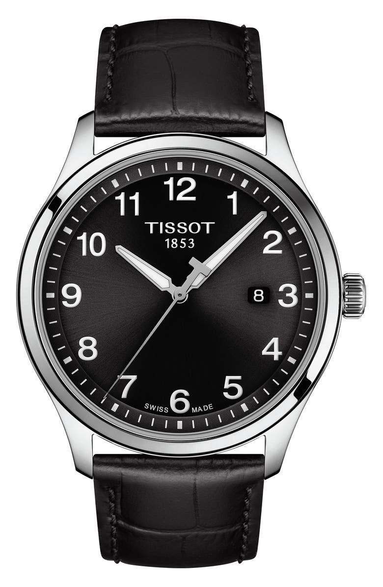 Tissot Gent XL Classic Leather Strap Watch 42mm