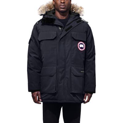 Canada Goose Expedition Down Parka With Genuine Coyote Fur Trim, Blue