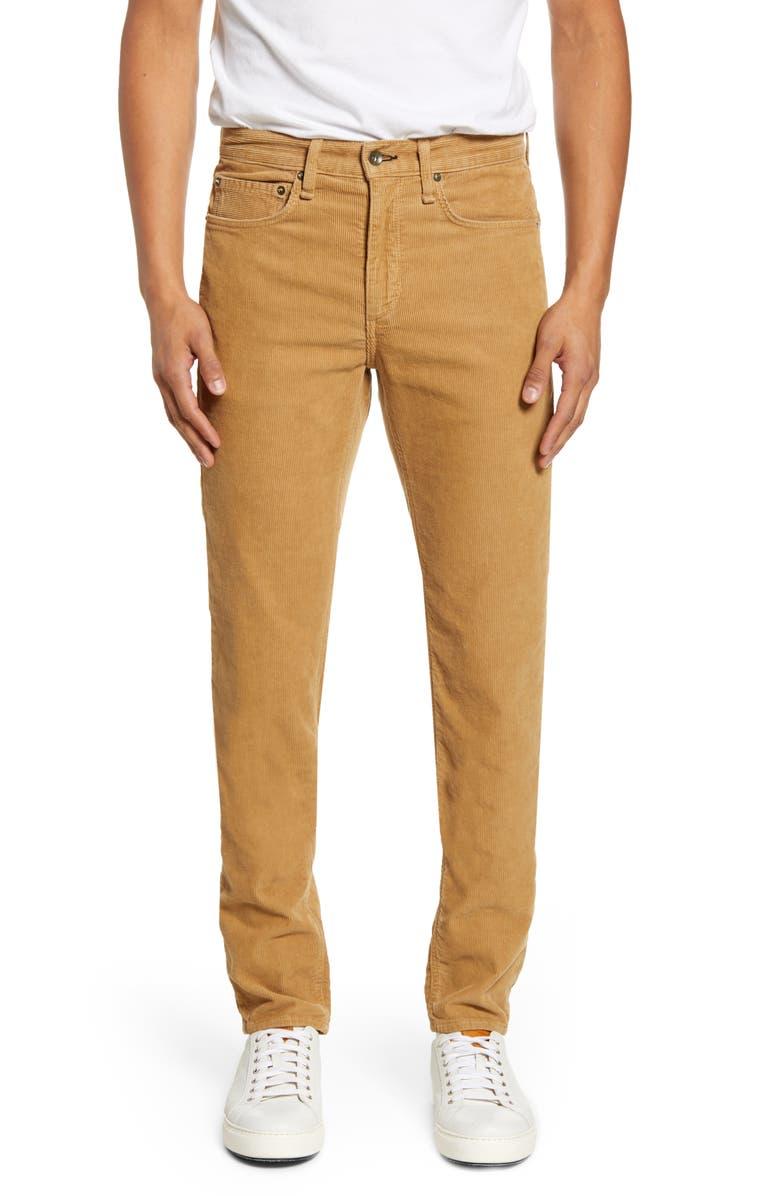 RAG & BONE Fit 2 Slim Fit Corduroy Pants, Main, color, KHAKI