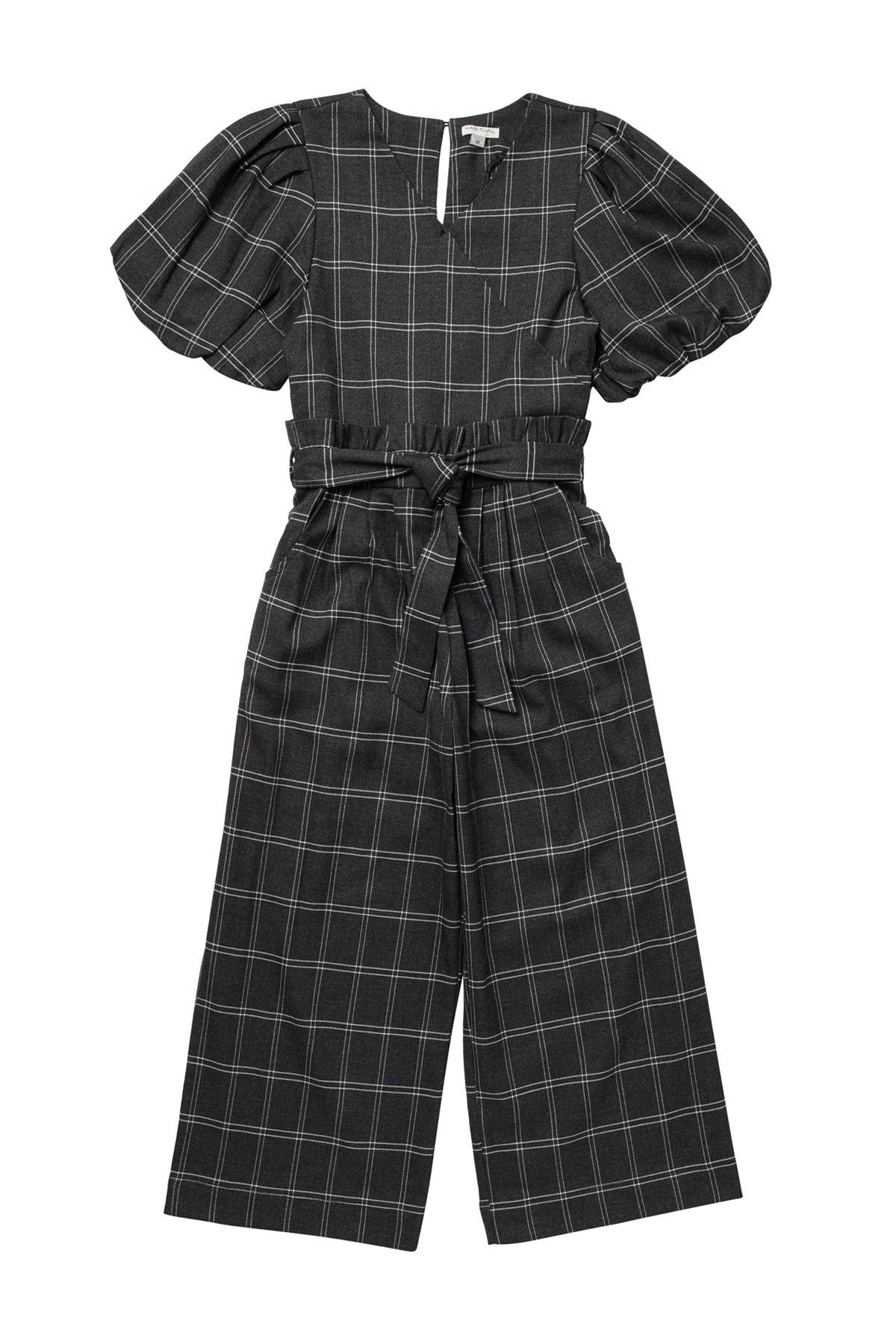 Image of Habitual Kids Charlie Plaid Wrap Jumpsuit