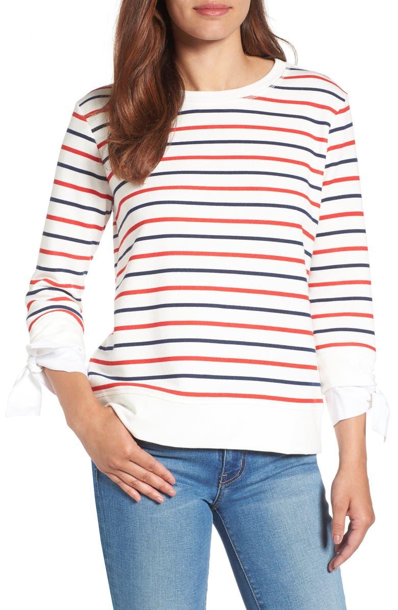 GIBSON Tie Sleeve Sweatshirt, Main, color, 419