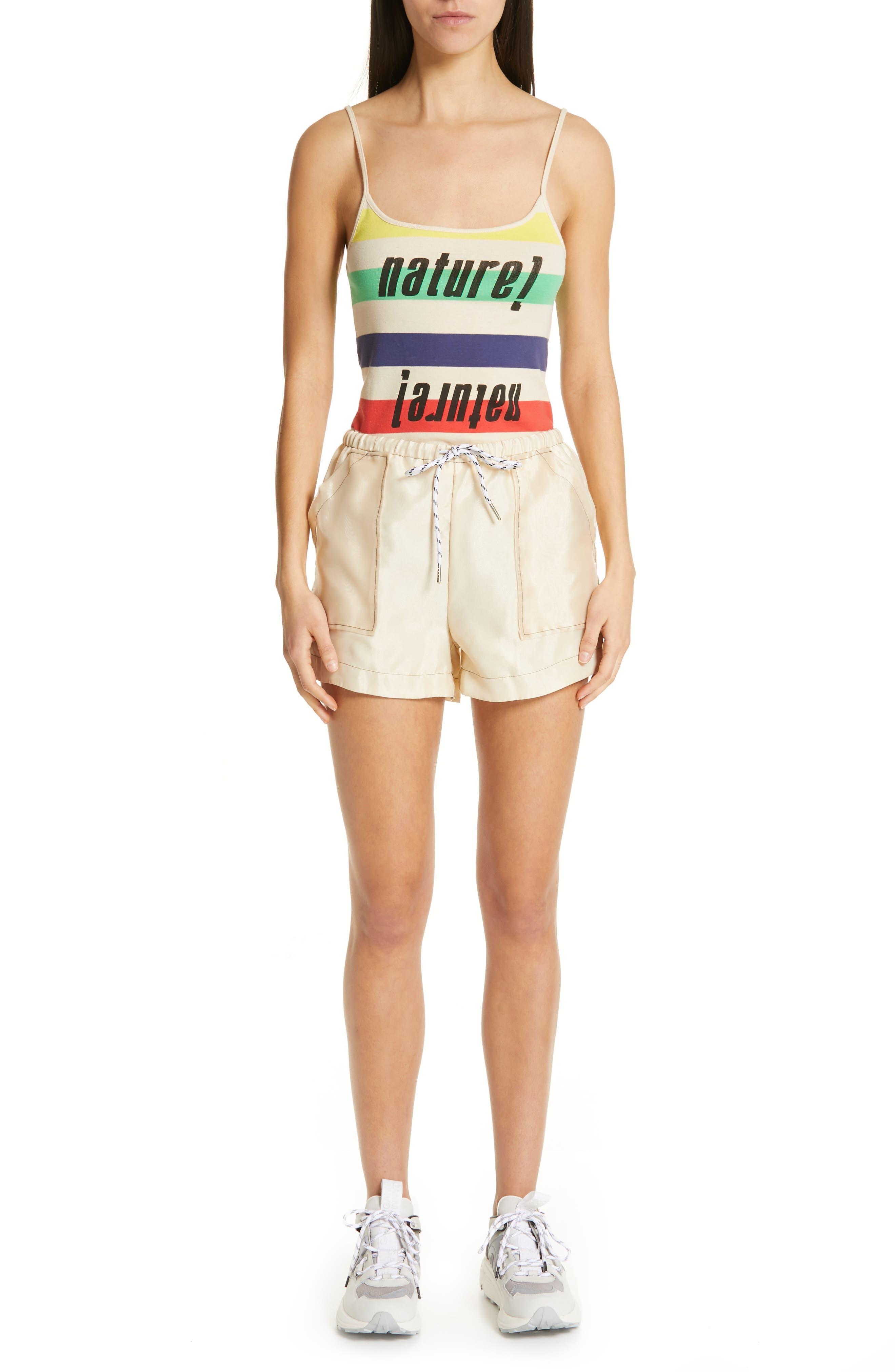 ,                             Solid Organza Shorts,                             Alternate thumbnail 7, color,                             TAPIOCA