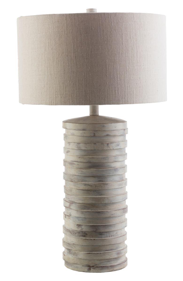 SURYA HOME Sulak Table Lamp, Main, color, LIGHT GRAY