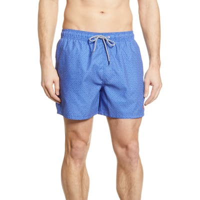 Ted Baker London Loother Slim Fit Swim Trunks, Blue