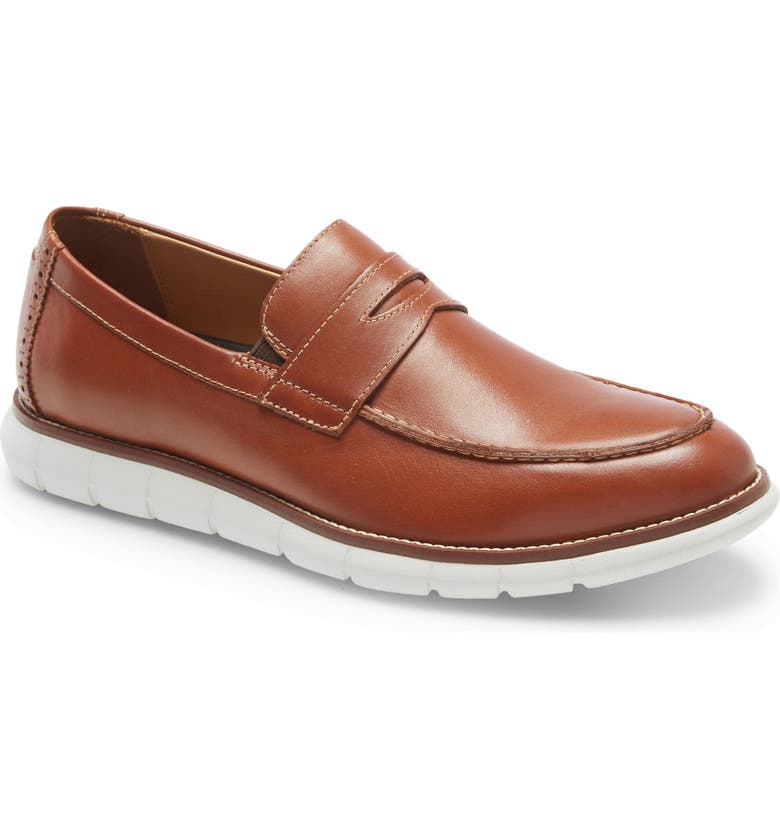 JOHNSTON & MURPHY Holden Penny Loafer, Main, color, TAN