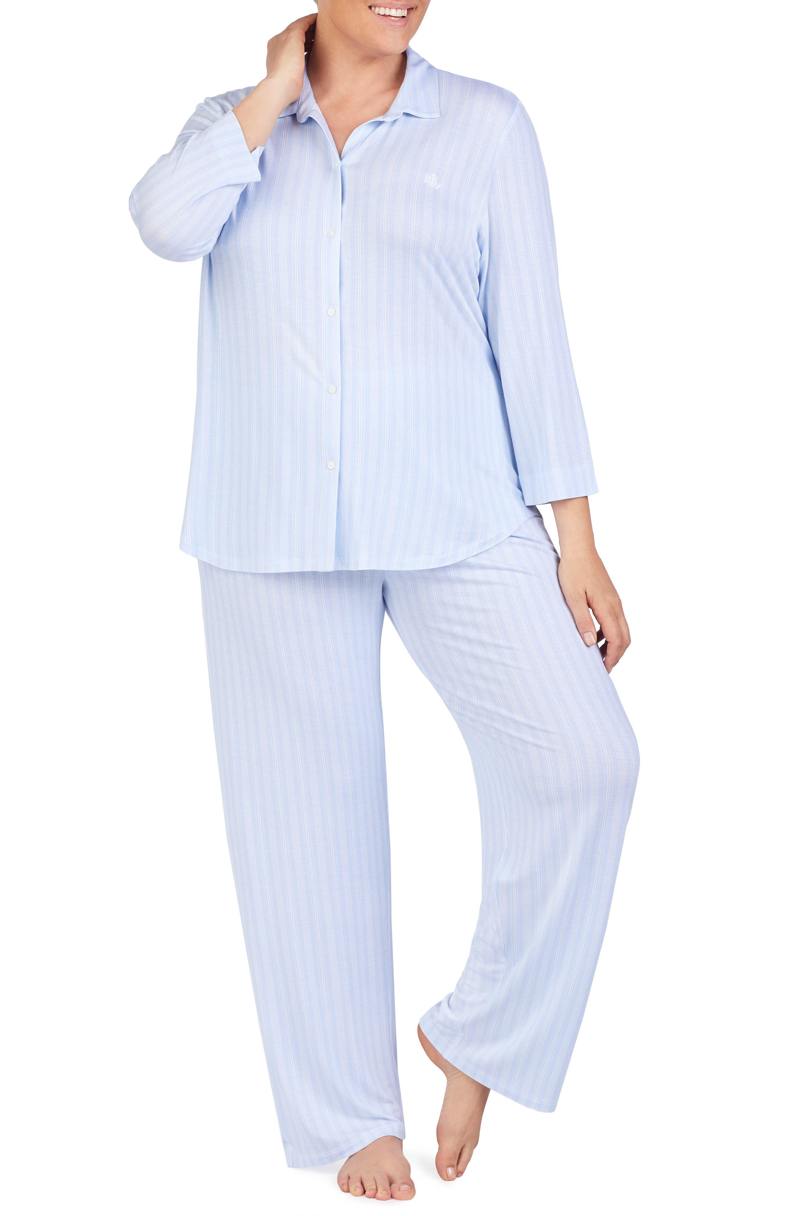 Plus Size Lauren Ralph Lauren Pajamas, Blue
