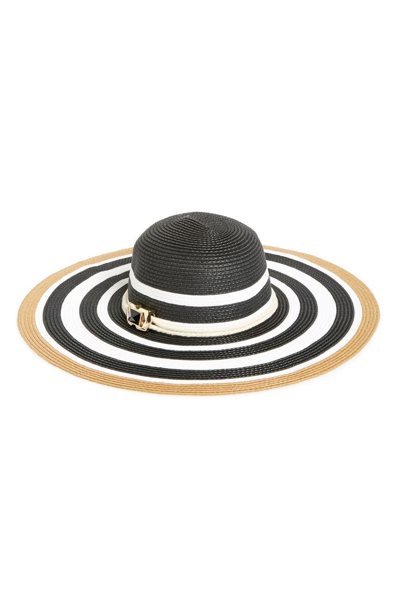 VINCE CAMUTO Straw Floppy Hat, Main, color, 001
