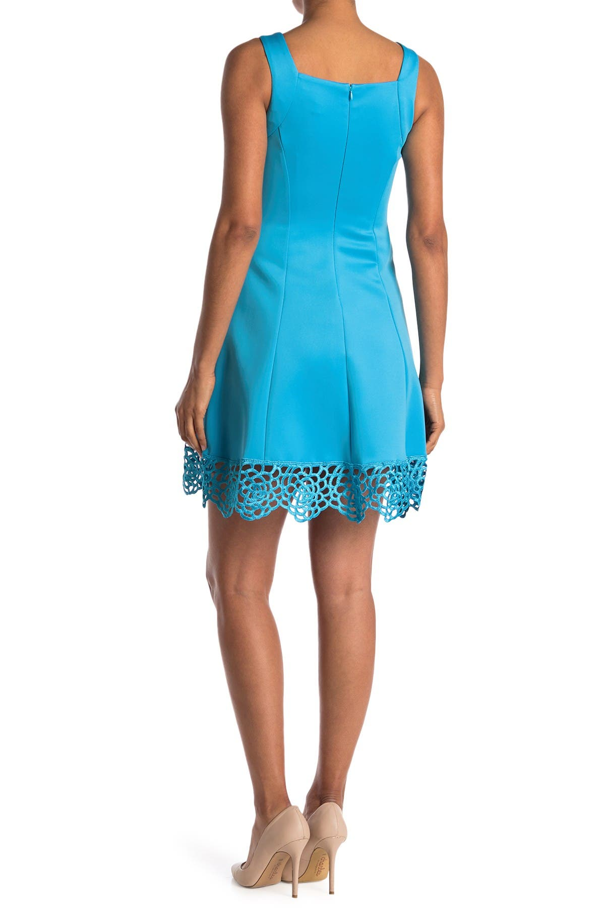 Image of Donna Ricco Sleeveless Scuba Fit and Flare Dress