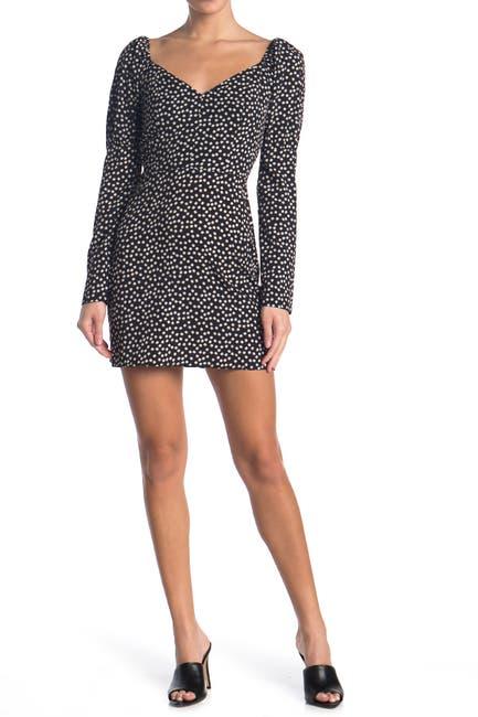 Image of re:named apparel Drew Polka Dot Long Sleeve Dress