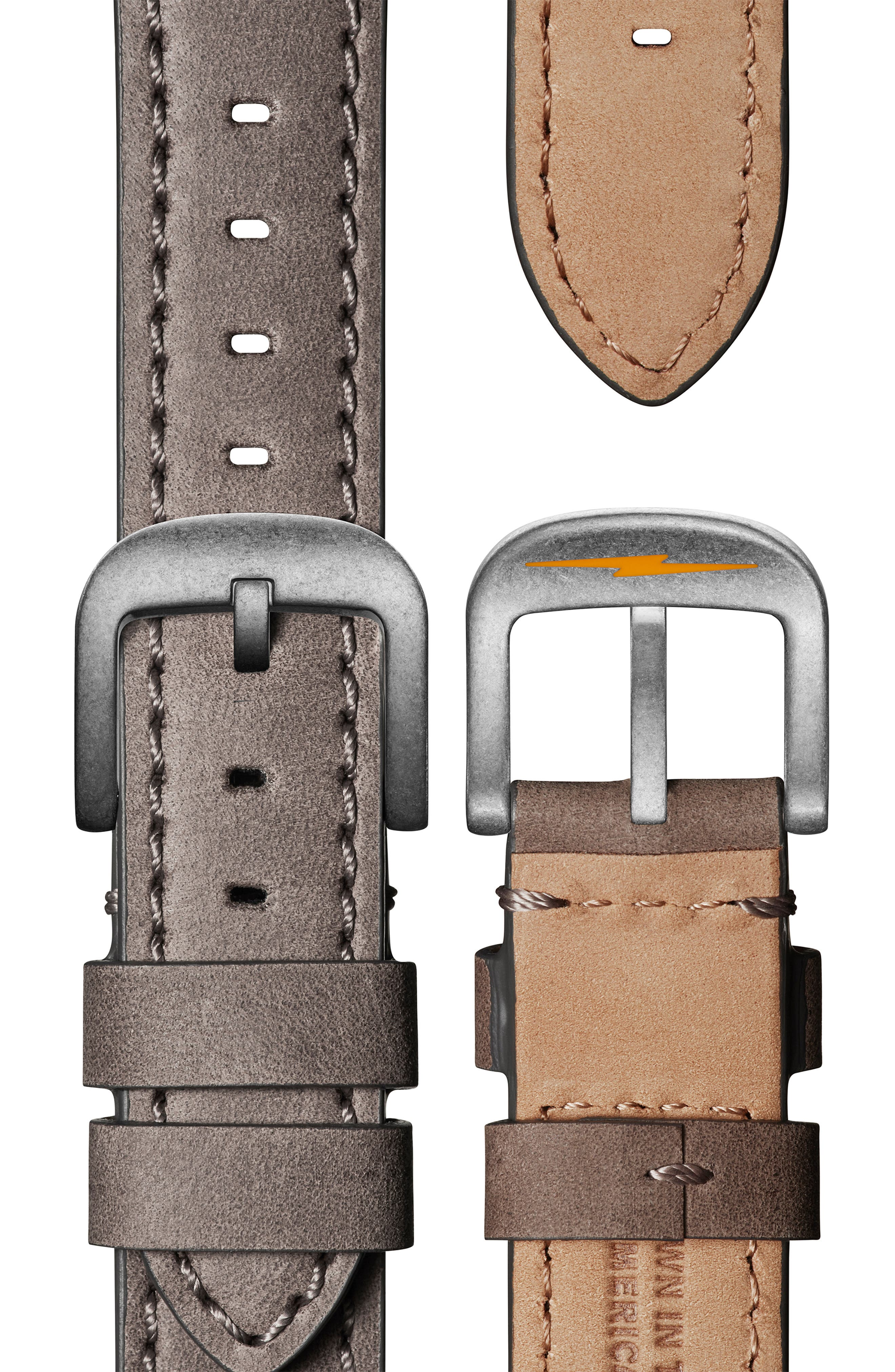 ,                             'Runwell' Leather Strap Watch, 41mm,                             Alternate thumbnail 5, color,                             HEATHER/ IVORY/ SILVER