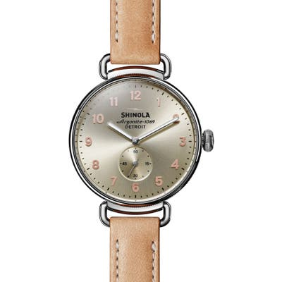 Shinola The Canfield Leather Strap Watch,