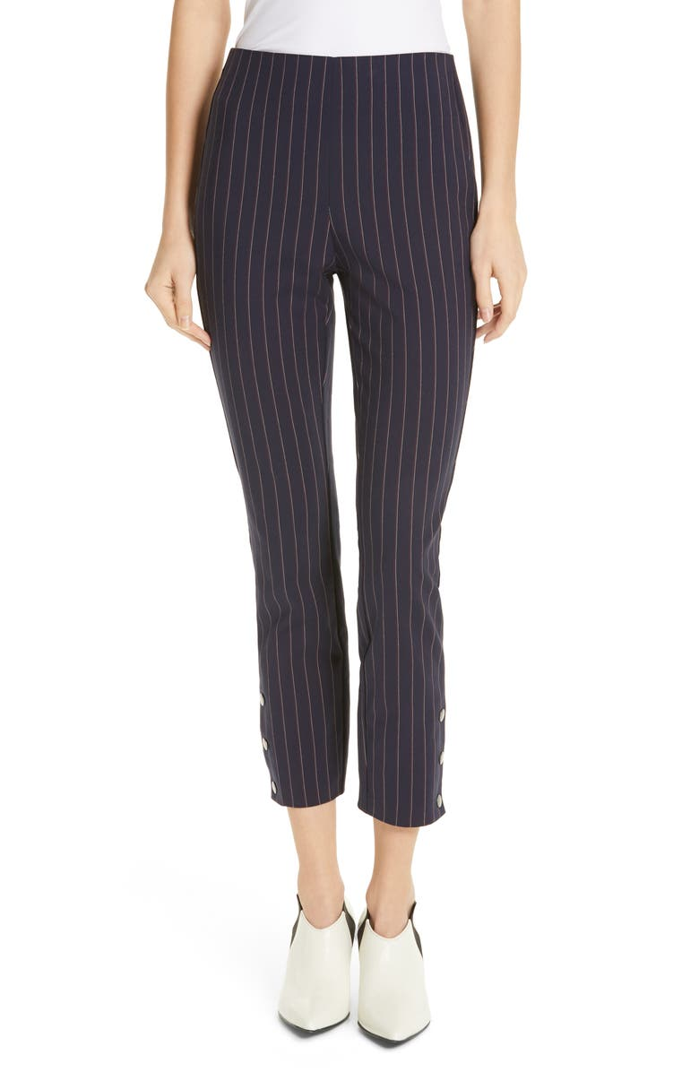 RAG & BONE Simone Pinstripe Snap Cuff Pants, Main, color, 416