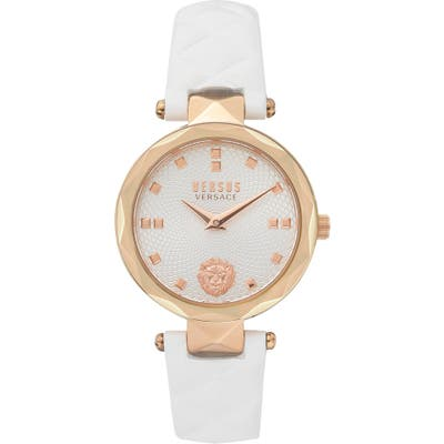 Versus Versace Convent Garden Leather Strap Watch, 32mm