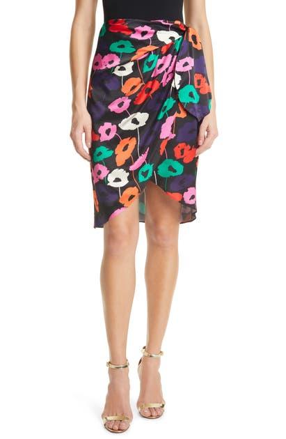 Milly Skirts LIZA POPPY PRINT WRAP SKIRT