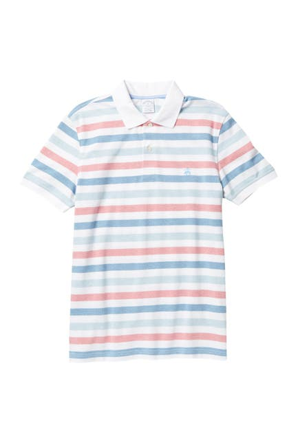 Image of Brooks Brothers Knit Yarn Dye Striped Polo