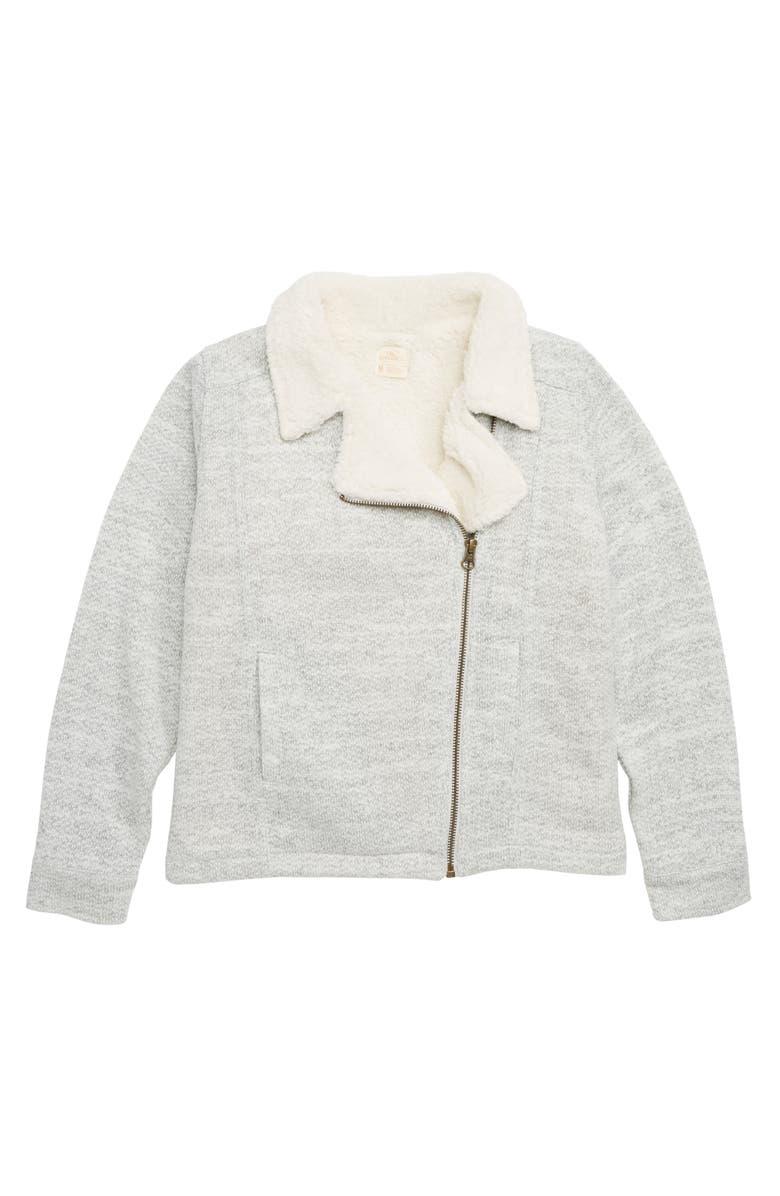 O'NEILL Alta Fleece Moto Jacket, Main, color, 030