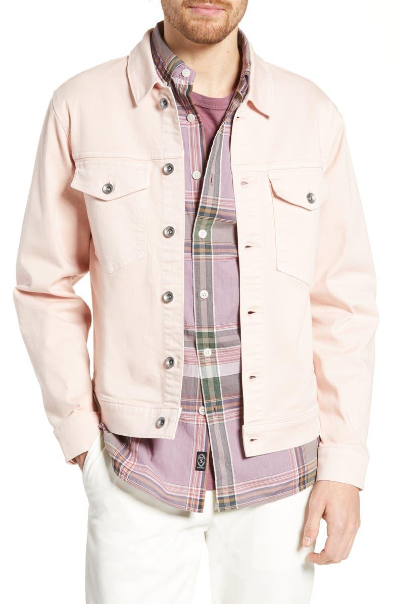 TODD SNYDER Dylan Denim Jacket, Main, color, PINK