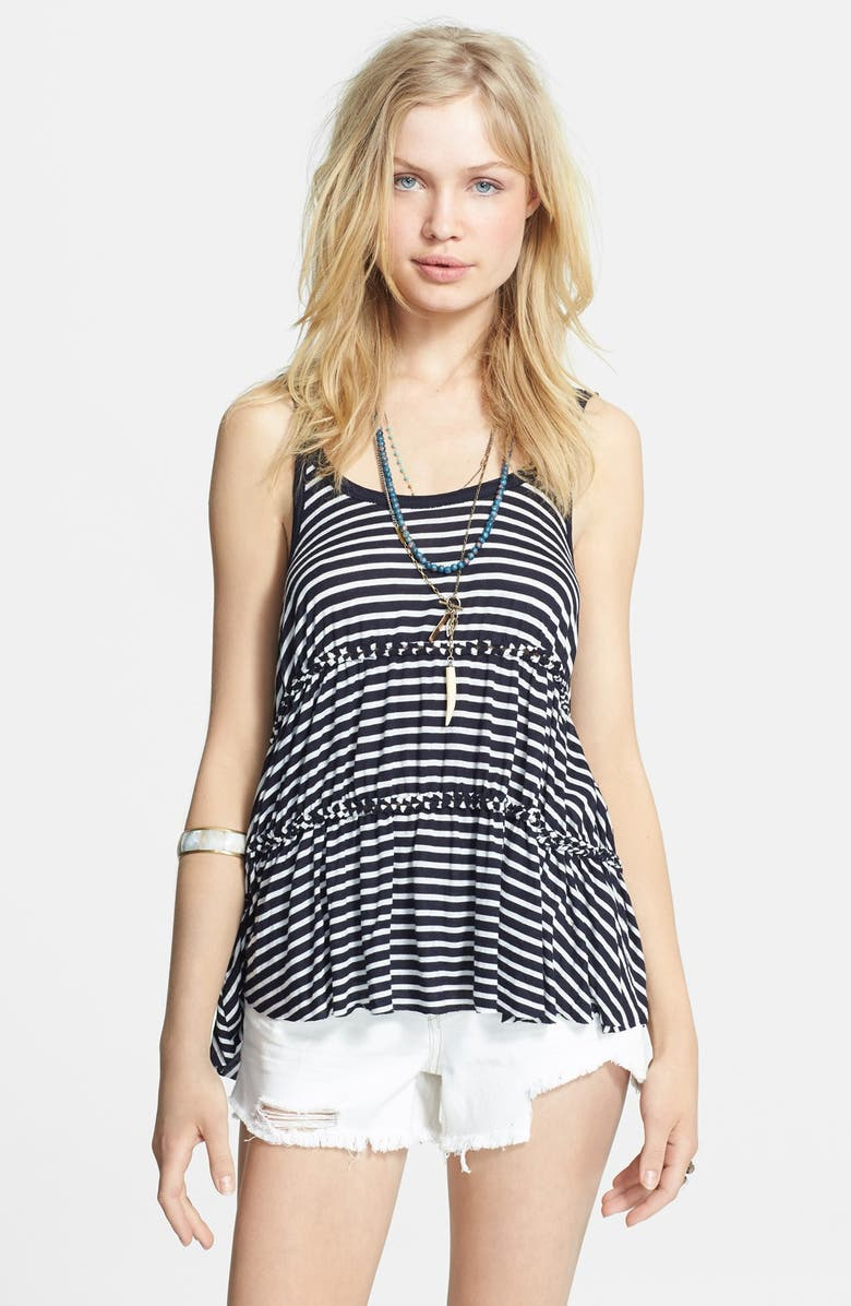 FREE PEOPLE 'Florence' Stripe Tiered Tank, Main, color, 410