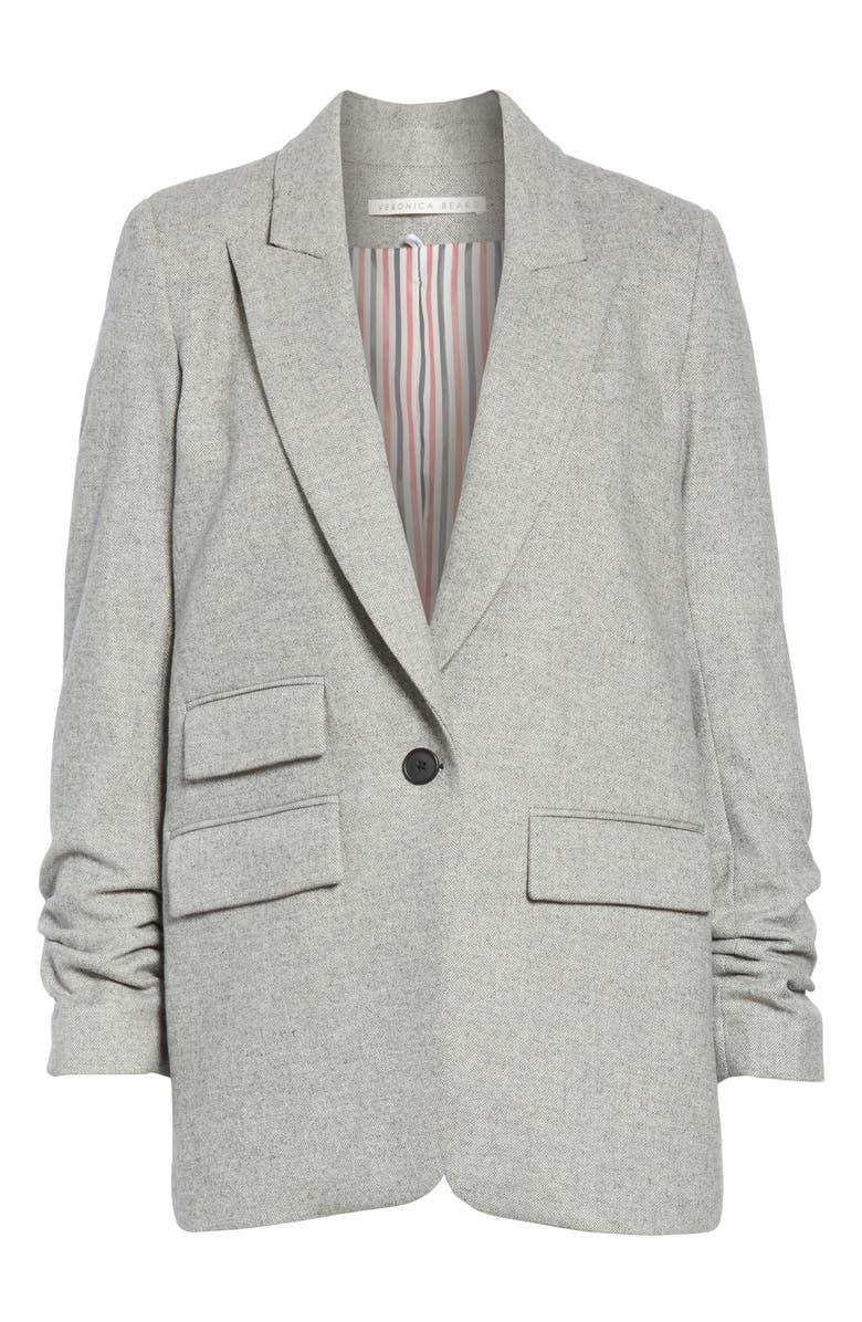 VERONICA BEARD Martel Herringbone Dickey Jacket, Main, color, 020