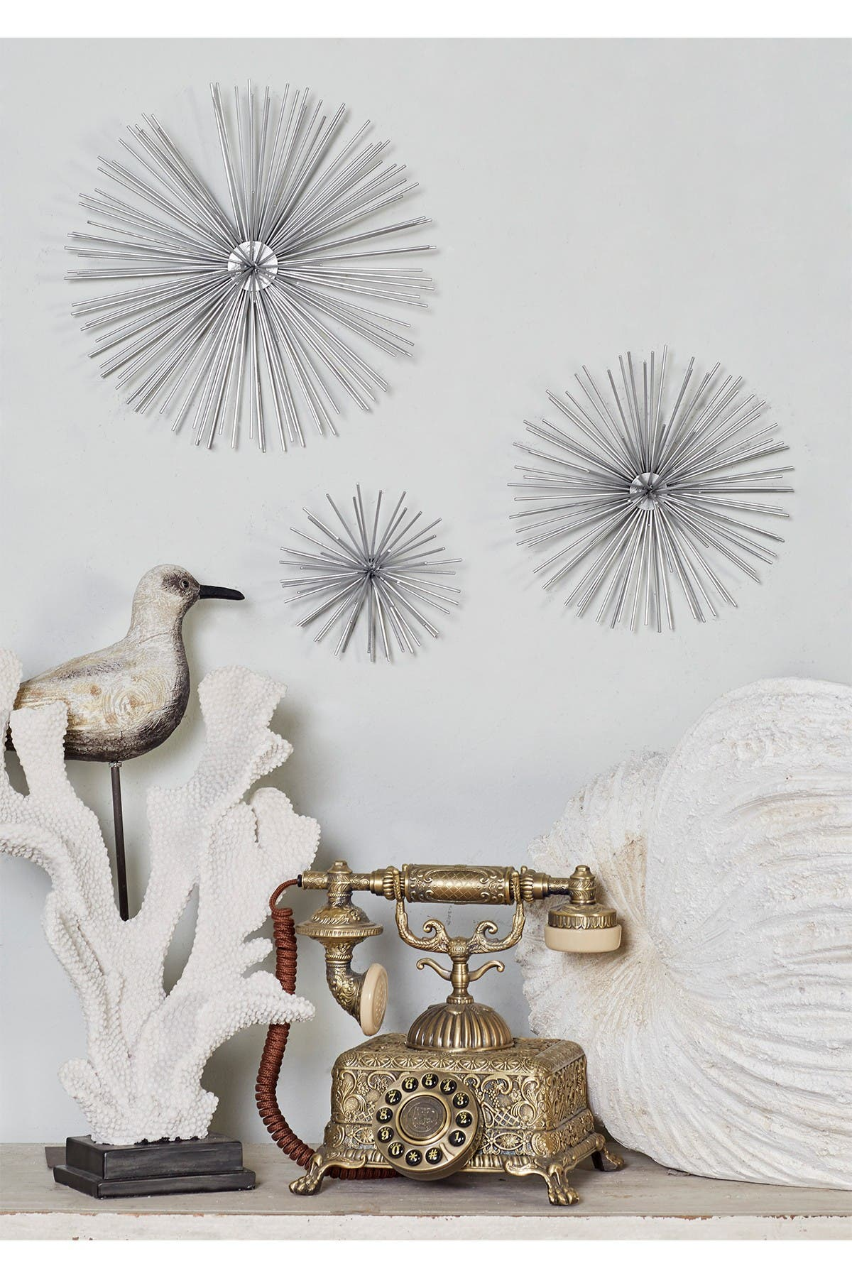 Image of CosmoLiving by Cosmopolitan Metal Star Wall Decor - Set of 3