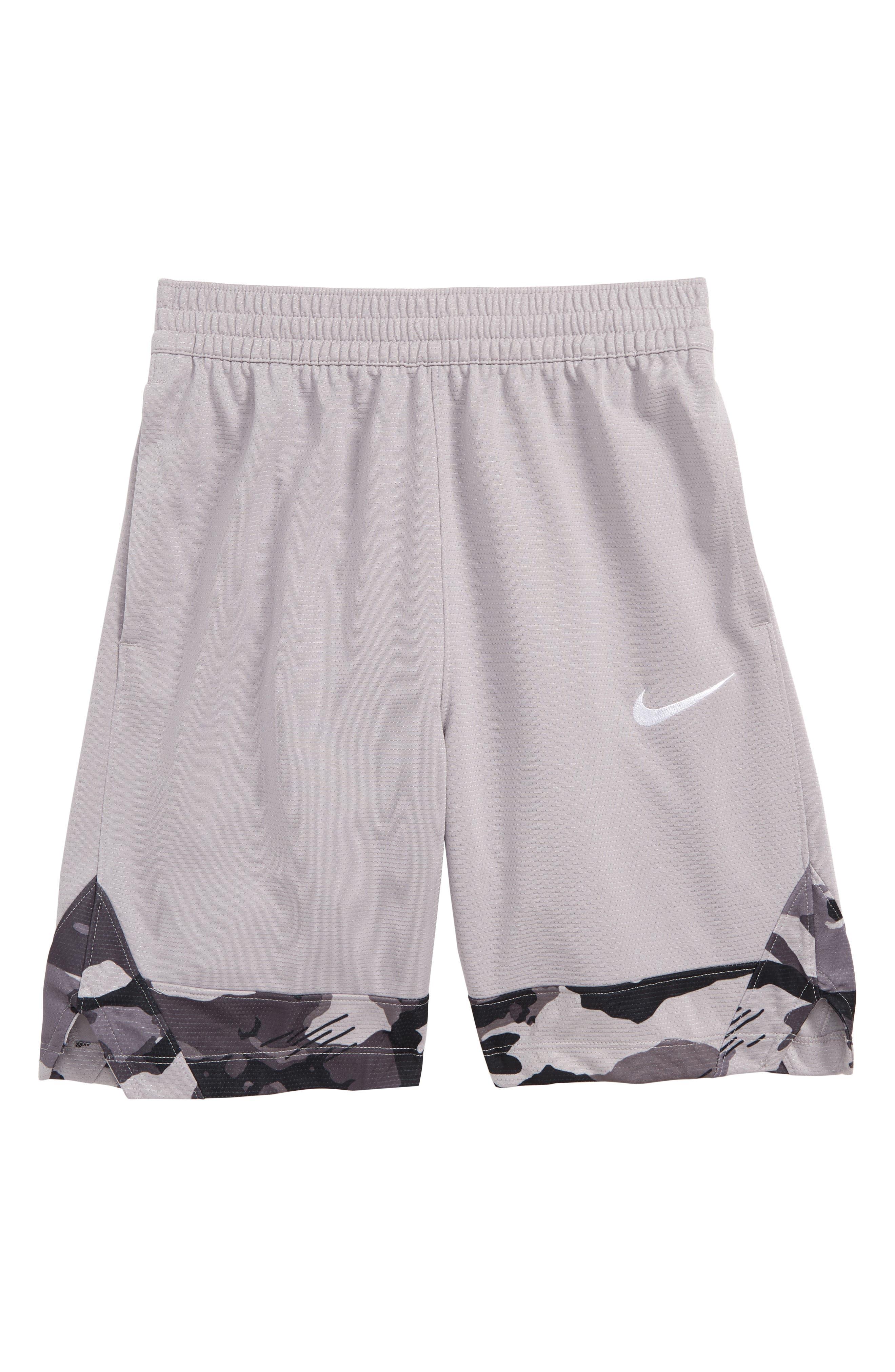Boys Nike Icon Basketball Shorts Size XL (16)  Grey