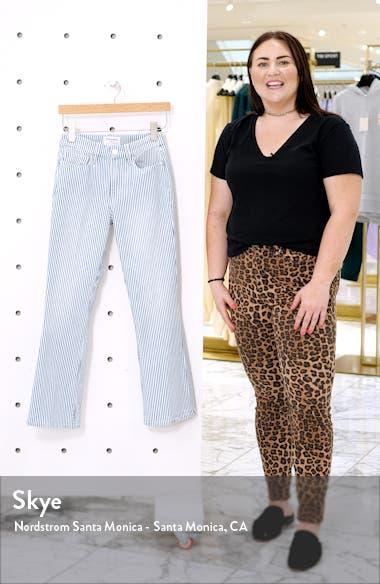 Engineer Stripe Le Crop Mini Boot Jeans, sales video thumbnail