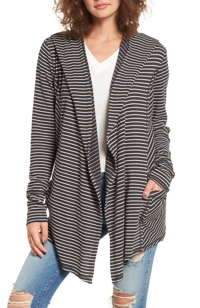 BILLABONG Make Way Thermal Hooded Cardigan, Main, color, 001